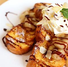 フレンチトースト バナナチョコフレンチ